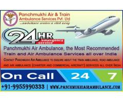 Get Best and Superfast Train Ambulance from Patna to Mumbai by Panchmukhi