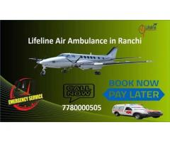 Commercial Air Ambulance in Ranchi with Full ICU-Setup- Call Lifeline