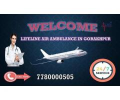 High Rated Air Ambulance in Gorakhpur Meets by Lifeline Call Now for Booking