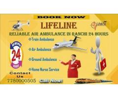 Make Admittance to Hospital Quickly by Lifeline Air Ambulance in Ranchi