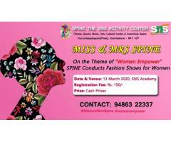 MISS & MRS SPINE Fashion Show at Coimbatore