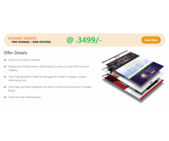 Web Mingo provides (free domain + Website hosting) at an affordable rate   Book now this offer