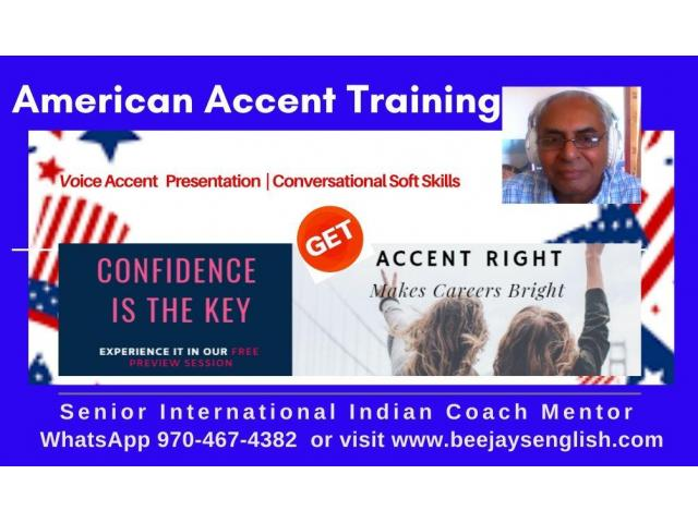 American Accent Training with One Tutor for One Person Exclusivity