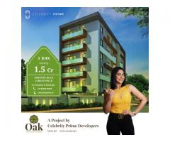 3 BHK Flats for Sale in Guttala Begumpet- CelebrityPrimeOAK