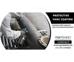 Protective HVAC coating for coils in corrosive environments