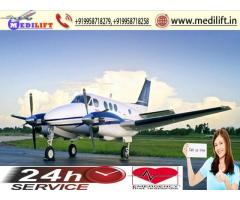 Get ICU Emergency Charter Aircraft Ambulance Service in Patna by Medilift