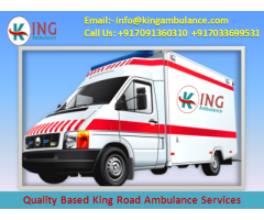Hire Top-Class King Road Ambulance in Patna at Low Cost