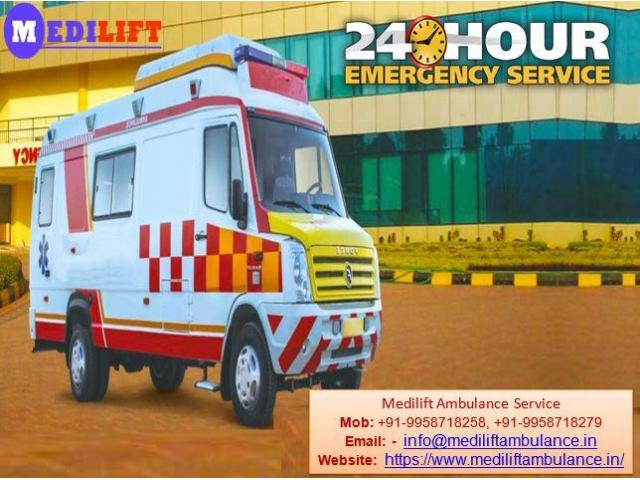 Medilift Ambulance Services in Varanasi for Emergency patient Transfer at Low Cost