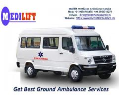 Choose Medilift Ambulance Service in Muzaffarpur with Doctor