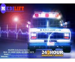 Hire Medilift Low Fare Ambulance Service in Darbhanga