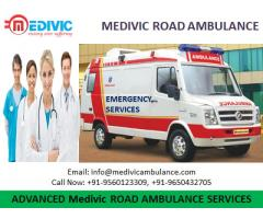 Take Fastest Road Ambulance Service in Sipra by Medivic