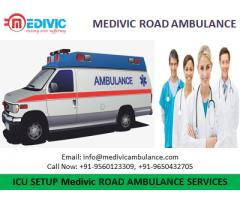 Now Book Road Ambulance Service in Phulwari Sharif Patna by Medivic