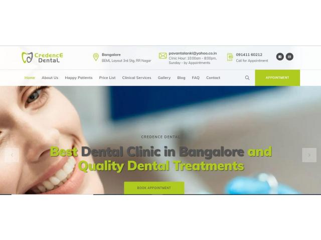 Dental Clinic in Bangalore - Credence Dental