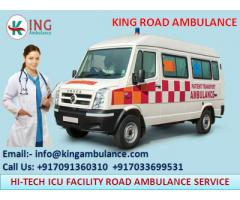 Demanding King Road Ambulance Service in Purnia with Medical Facility