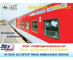 Most Demanding King Train Ambulance Service in Bangalore with ICU Facility
