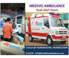 Medivic Ambulance Service in Bhagalpur with Medical Setup