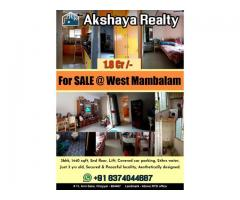 Akshaya Realty Presents, wonderful 3bhk for sale at 1.8cr in west mambalam