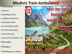 Use Best Emergency Train Ambulance in Darbhanga at the Cheap Cost by Medivic