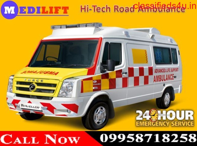 Get Medical Road Ambulance Service in Ranchi by Medilift at Best Price