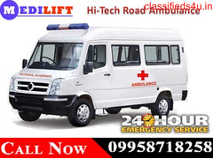 Get Hi-Tech Road Ambulance in Jamshedpur at Genuine Budget by Medilift