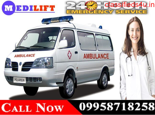 Get Low-Cost Road Ambulance Service in Bhagalpur with Medical Team by Medilift