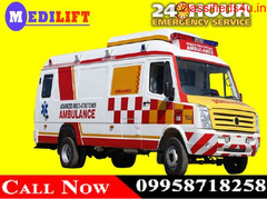 Use Medilift ICU Road Ambulance Service in Dhanbad at Cheapest Price