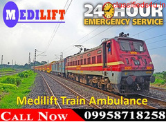 Use Medilift Train Ambulance Service in Kolkata with Best Expert Team at Genuine Cost