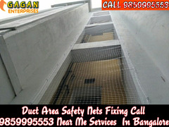 Gagan Duct area safety nets | duct area pigeon nets bangalore