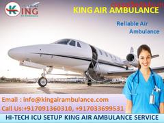 Advanced ICU Setup Air Ambulance Service in Kolkata by King