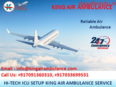 World-Class Air Ambulance Service in Gwalior by King