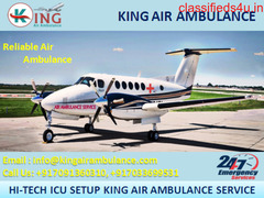 Pick Hi-Tech Air Ambulance Service in Pondicherry by King