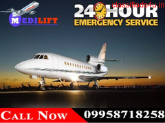 Use Emergency Charter Air Ambulance in Patna with Doctor and Medical Team