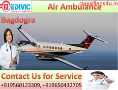 Take  Low Fare Medivic Air Ambulance Service in Bagdogra