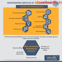 Bookkeeping services at Meru accounting