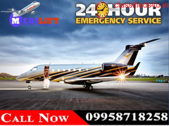 Avail Medilift ICU Air Ambulance Service in Patna with Emergency Doctor