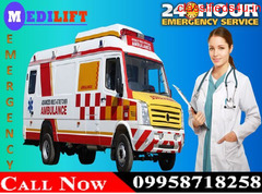 Use Emergency and Low-Cost Medilift Road Ambulance in Bokaro with Medical Team
