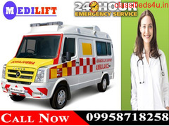 Get Best and Low-Cost Medilift Road Ambulance in Jamshedpur with Medical Setup