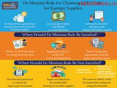 De Minimis Rule for Claiming GST Credit for Exempt Supplies