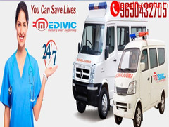 Best ICU Medivic Ambulance Service in Chatarpur with Medical Team