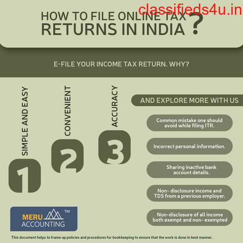 How to file online tax returns in India?