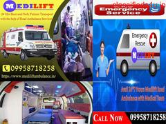 Modern Ventilator Ambulance Service in Patna by Medilift