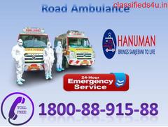 Hi-tech Road Ambulance Service in Alamganj by Hanuman Ambulance