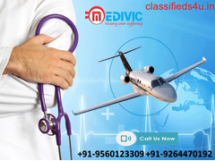 Select Top-Class Medivic Air Ambulance Services from Guwahati to Delhi