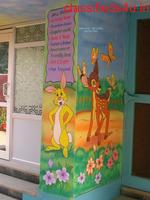 3d art & cartoon school wall painting