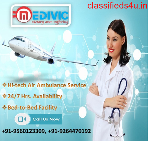 Avail Time Saver Air Ambulance Services in Bangalore by Medivic