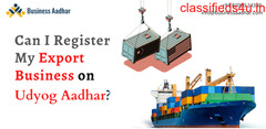 Can I register my export business on Udyog Aadhar?