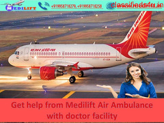Full ICU Setups Commercial Aircraft Service in Ranchi