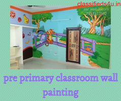 pre primary classroom wall painting