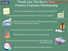 Thank you: The Key to have Positive Customer Relationship