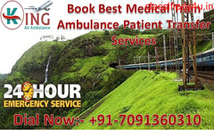 Get King Train Ambulance from Patna to Delhi for World-Class Medical Facility